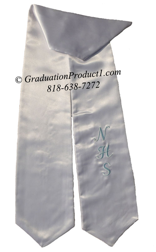 Nhs White Graduation Stole