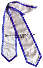 White Stole With Trims Graduation Stole