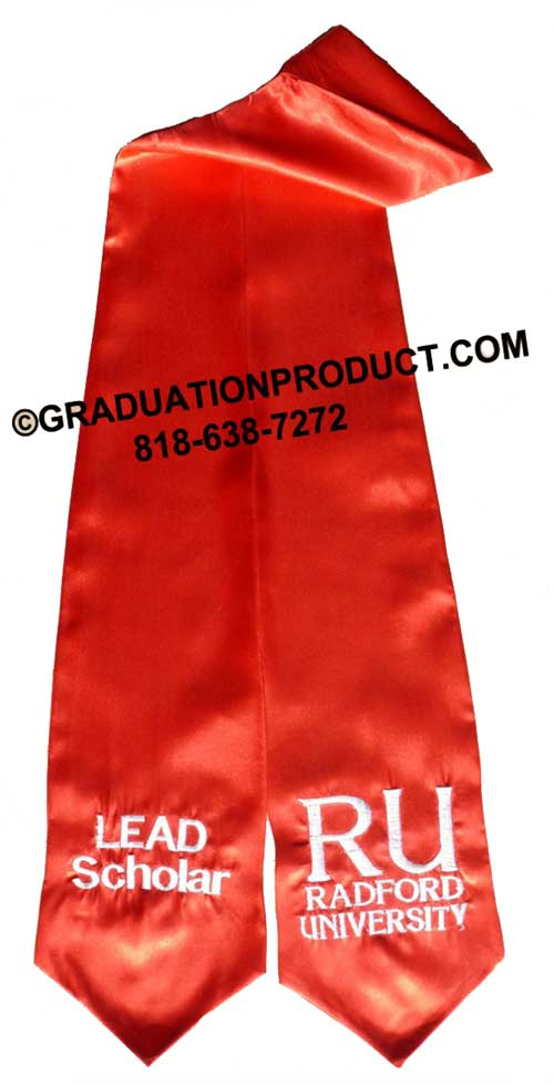 Ru Radford University Lead Scholar Graduation Stole