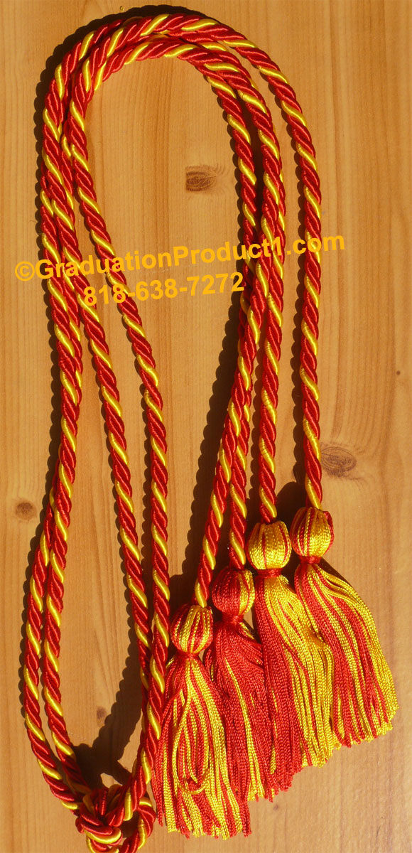 Red And Gold Braided Double Honor Cords