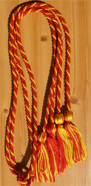 Red and Gold Braided Double Tied  Graduation Honor Cord