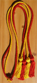 Red and Gold Double Tied Honor Cords