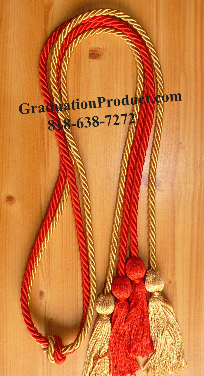 Red And Old Gold Double Honor Cord