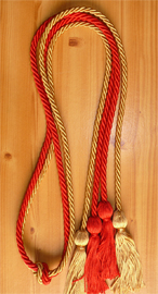 Red and Old Gold  Double Tied Honor Cords