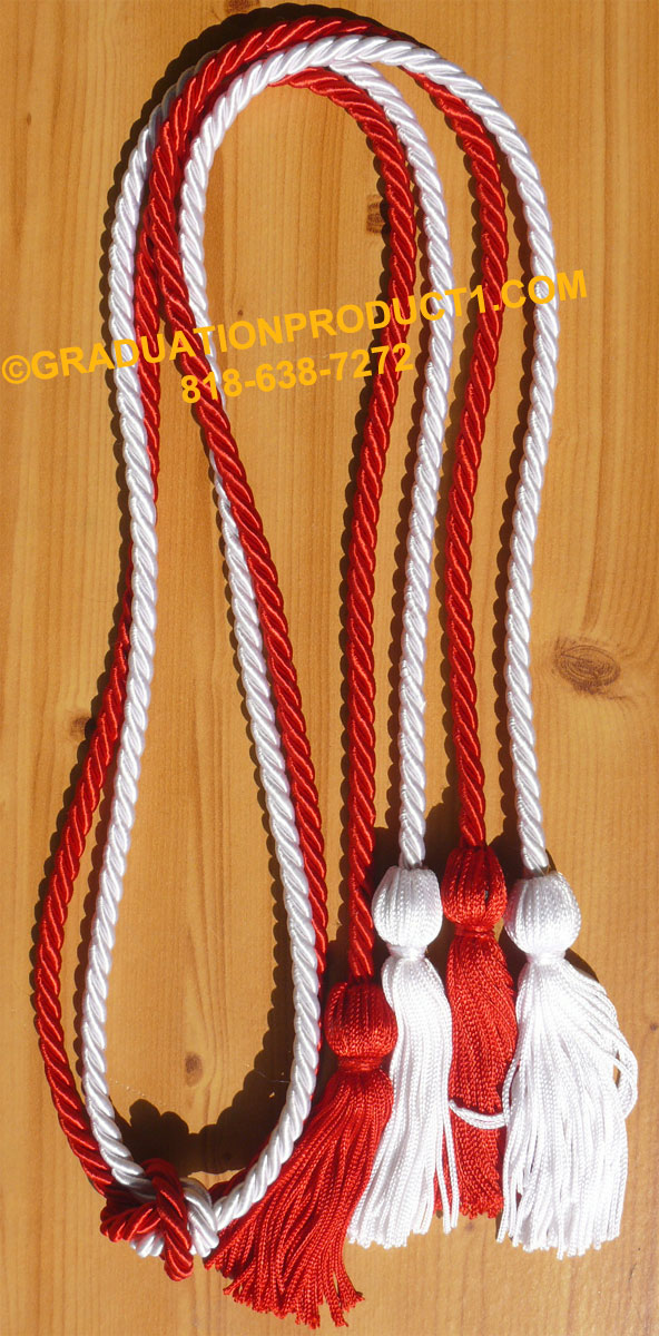 Red And White Double Honor Cord