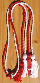 Red and White Double Tied Honor Cords