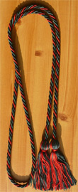 Red , Black and Hunter Green  Intertwined Graduation Honor Cord