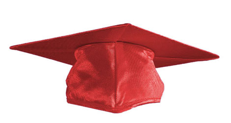 Red Graduation cap