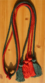 Red & Forest Green Double Tied Honor Cords