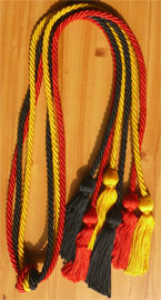 Red Gold and Black Triple Graduation Honor Cords
