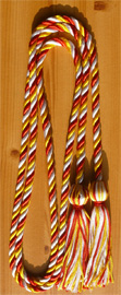 Red , Gold and White  Intertwined Graduation Honor Cord