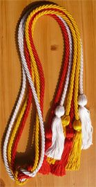 Red Gold and White Triple Graduation Honor Cords