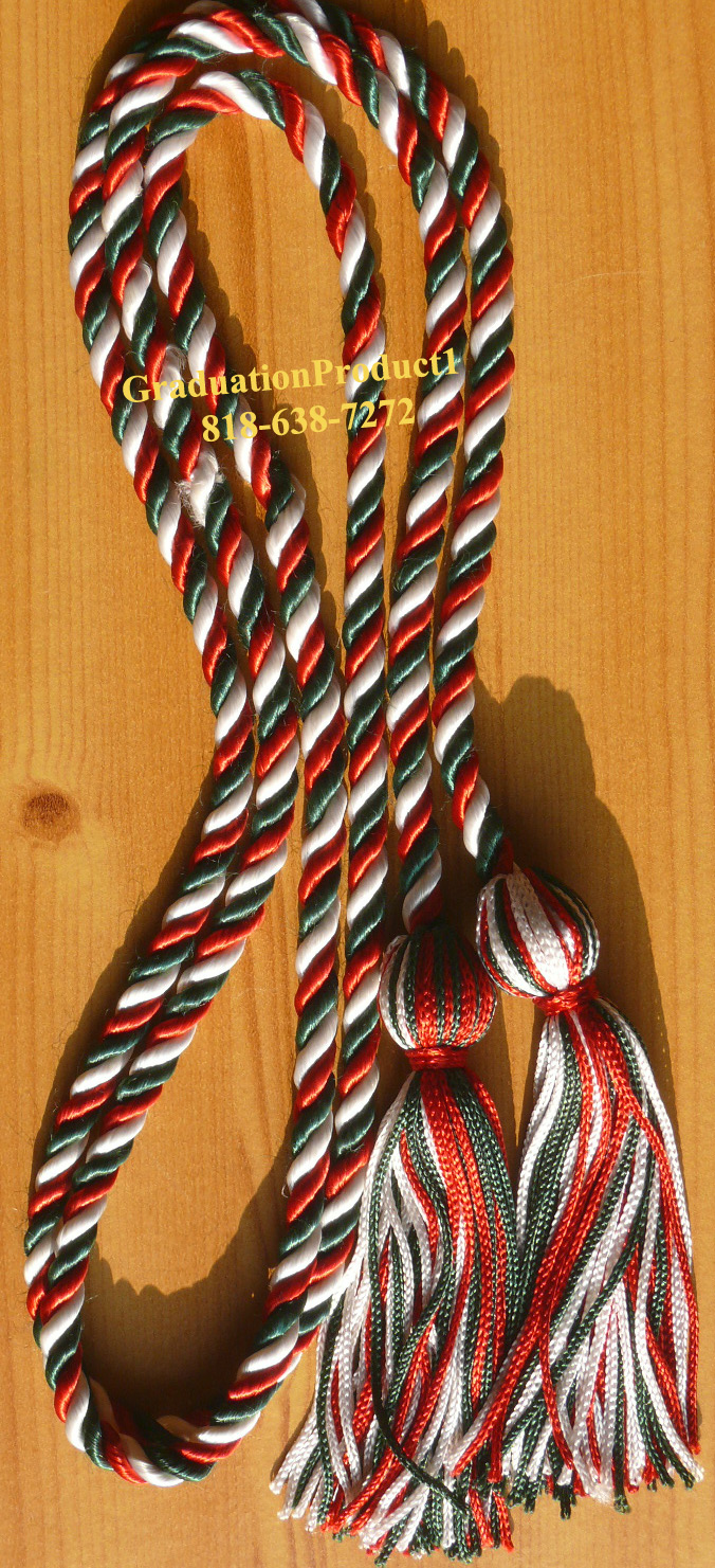 Red White Hunter Green Honor Cords