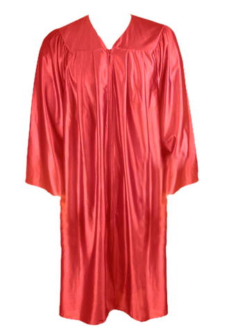 Red Graduation  Gown