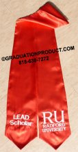 Red CustomTwo Side Embroidered Graduation Stole