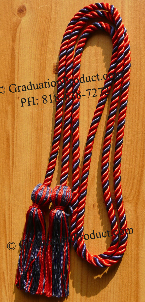 Red And Navy Blue Honor Cords