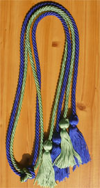 Royal Blue and Nile Green  Double Tied Honor Cords
