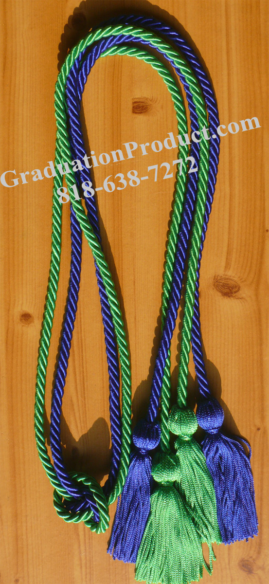 Royal Blue And Kelly Green Double Honor Cord
