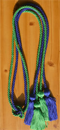 Royal Blue & Kelly Green Double Tied Honor Cords