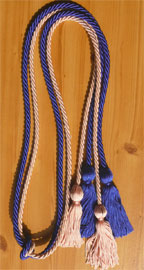 Royal Blue and Pink Double Tied Honor Cords