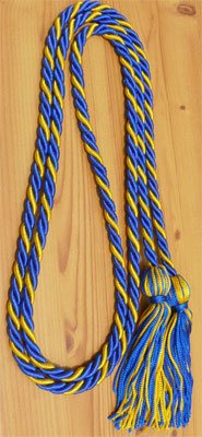 Royal Blue & Gold  Graduation Honor Cords
