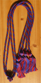 Royal Blue and Red Braided Double Tied  Graduation Honor Cord
