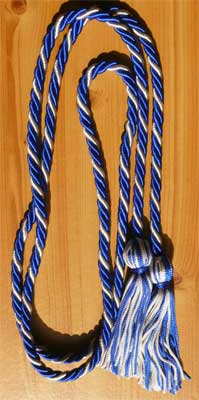 Royal Blue and Silver Braided Graduation Cords