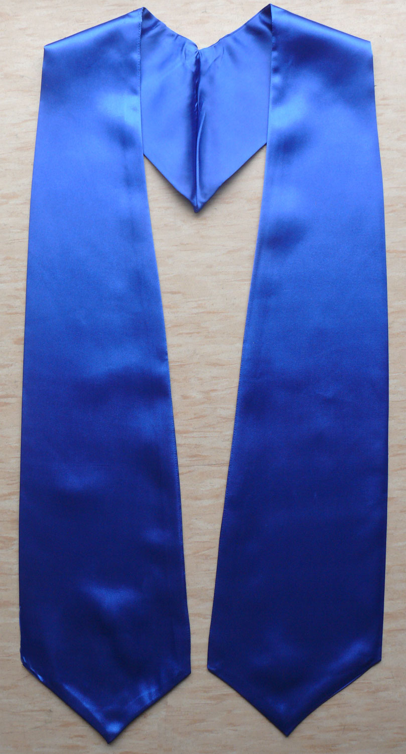 Royalblue Plain Graduation Stoles