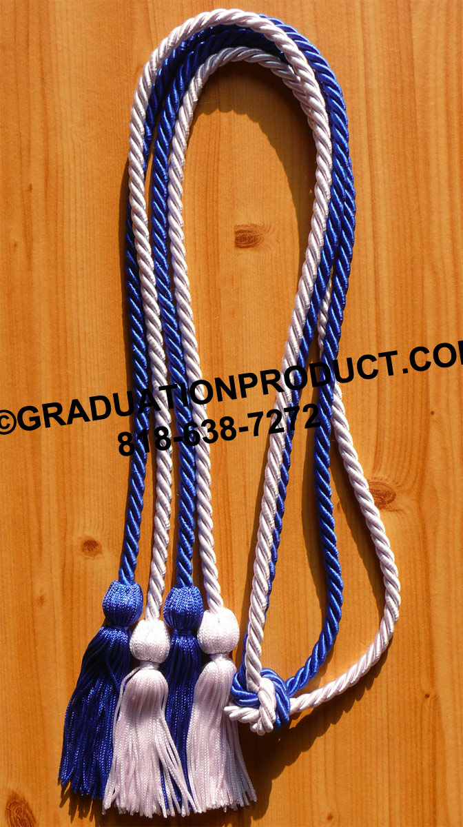 Royal White Double Honor Cord