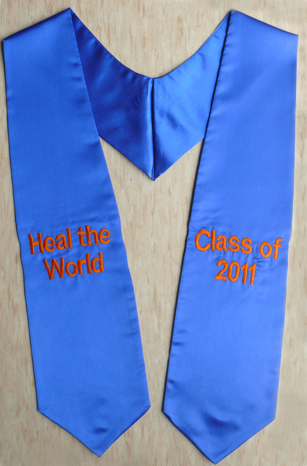 Royalblue Twoside02 Embroidered Graduation Stoles