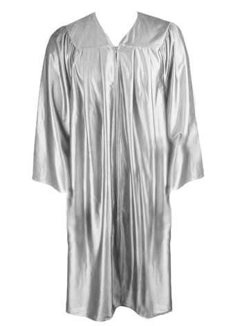 Silver Graduation Gown
