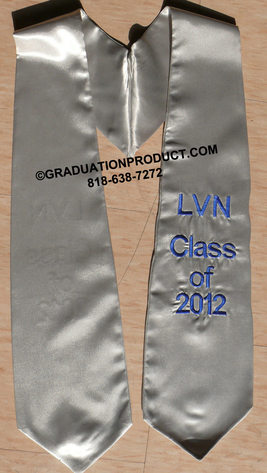 Silver Oneside Embroidered Graduation Stoles