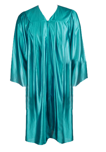 Teal Graduation  Gown