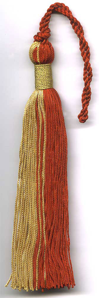 Red Gold Graduation Tassel With Matallic Wrap