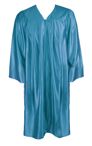 Turquoise Graduation  Gown