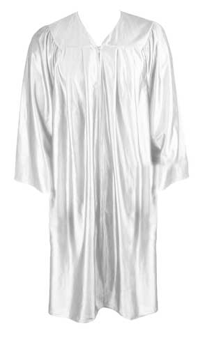 White Graduation  Gown