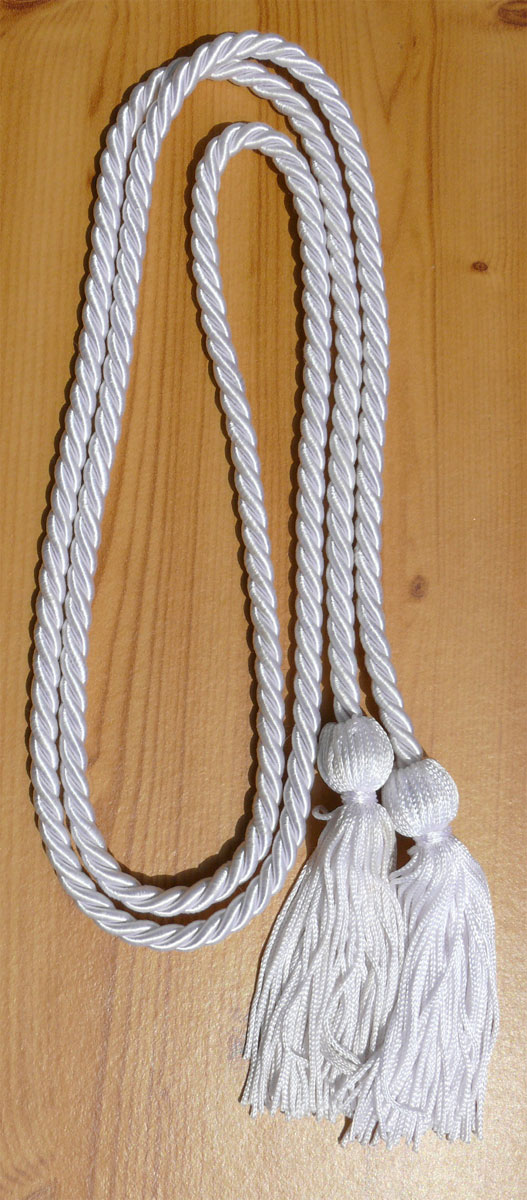 White Single Honor Cord