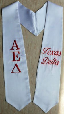 Alpha Epsilon Delta Greek Graduation Stole