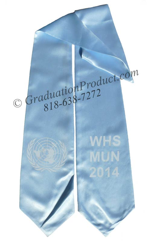 Who Whs Mun Printed Graduation Stole