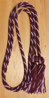 Wine & Lilac  Intertwined Graduation Honor Cord