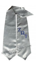 Zeta Omega Tau Greek Graduation Stole