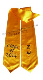 Zeta Psi Greek Graduation Stole